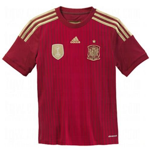 ADIDAS Spain Home Jersey Youth [VICRED/LGFOGO/TORO] (L) Adidas Spain Youth Home Jersey