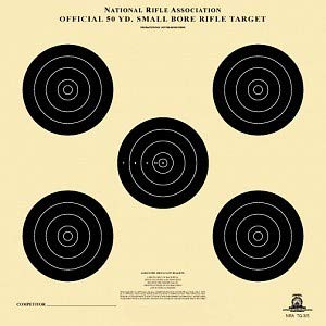 Official TQ-3/5 NRA Target, 50 Yard, Smallbore Rifle, 14