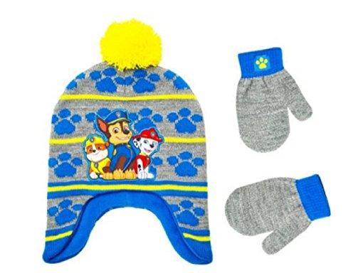 Patrol Mitten (Nick Jr PAW Patrol Toddler Boy Winter Hat and Mitten Set Cold Weather)