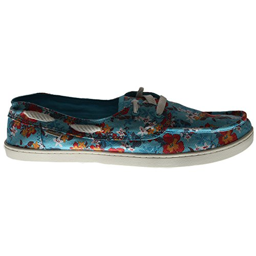 Sanuk Womens Pair O Sail Prints Shoes Aqua Waikiki Floral 9.5