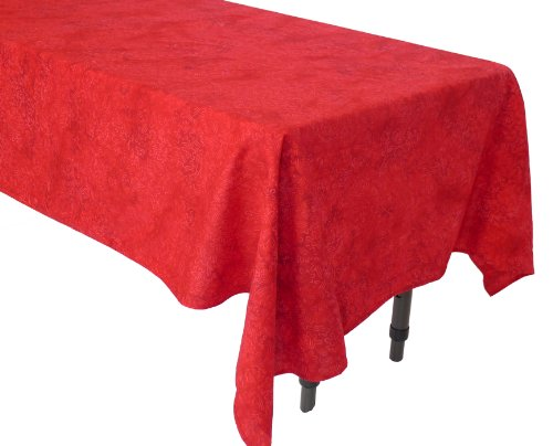 Squish Red Cloud Coffee Table Tablecloth - Handcrafted Batik 100% Cotton - Bali Batik Tablecloth