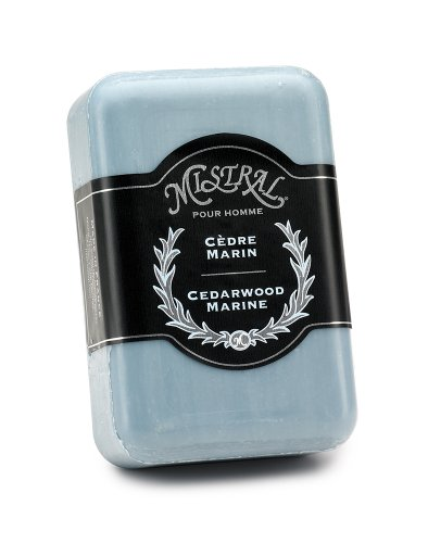 Price comparison product image Mistral Men's Soap, Cedarwood Marine, 250 Grams