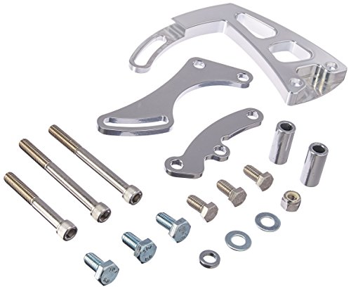 March Performance 20165 Clear Powdercoat Aluminum Front Mount Ultra Power Steering Brackets