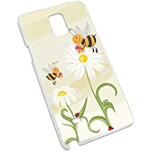 Bumble Bees and Ladybugs on Daisies - Flowers Snap On Hard Protective Case for Samsung Galaxy Note 4