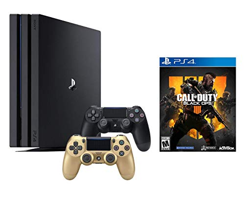 PlayStation 4 Call of Duty Black Ops IIII and 4K HDR PlayStation 4 Pro 1 TB Console with Extra Gold Dualshock 4 Wireless Controller (Split-Screen Play Available)