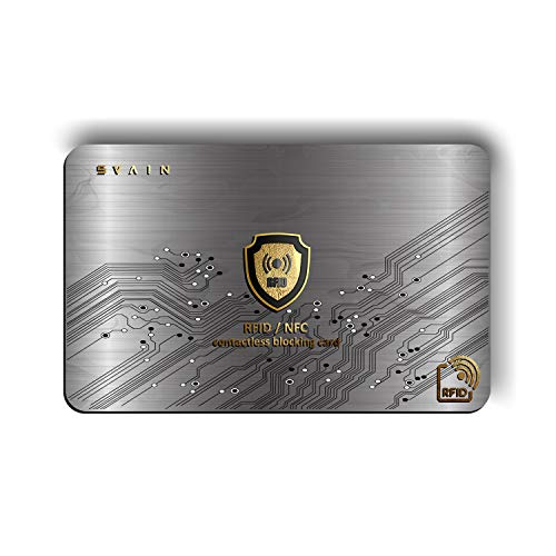 🥇 Protección Tarjeta De Crédito Contactless – Protector De Tarjeta De Crédito con Blindaje RFID Y NFC – Protección De Documentos De Identidad – Pasaporte – Protección De Tarjetas Bancarias
