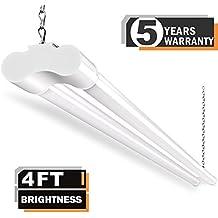 1 Pack LED Shop Lights for Garage 36W 4FT BBOUNDER Utility Lighting Plug in 3600 Lumens 5000k Daylight Double Fixtures 82+ CRI for Basement Workbench Storage 64 Watt Fluorescent Equivalent