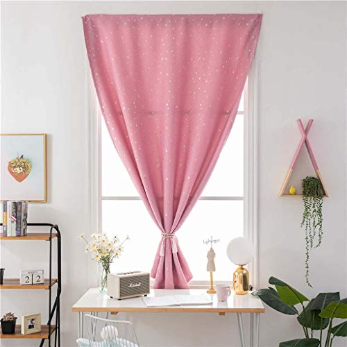 Yucode Star Printed Window Treatment Set Insulated Blackout Curtains Decorative Room Window Drapes for Kids Room