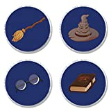 MAGJUCHE Magical Wizard School Party Candy Stickers, Potter Themed Kids Birthday Party Supplies, Sticker Labels for Favors, Decorations, Fit Hershey's Kisses, 304 Count