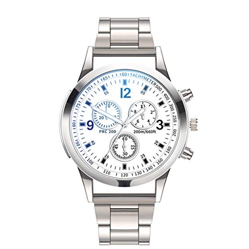 Bokeley Luxury Men's Wrist Watch - Stainless Steel Band - 40mm Chronograph Watch - Japanese Quartz Movement (C)