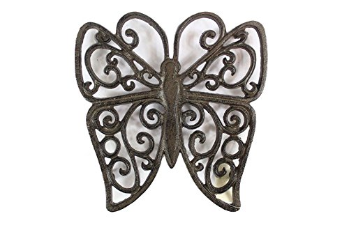 Handcrafted Nautical Decor Cast Iron Butterfly Trivet 8