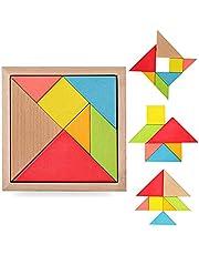 لعبة بازل خشبية للتركيب للاطفال، العاب تنمية ذهنية للاطفال