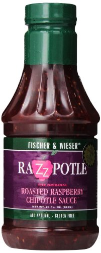 Raspberry Chipotle - Fischer & Wieser Razzpotle Roasted Raspberry Chipotle Sauce, 20-Ounce Bottles (Pack of 6)
