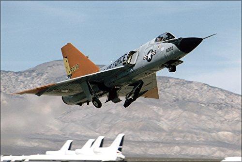 24x36 Poster . Eclipse Program Qf-106 Delta Dart F-106 Mojave Airport