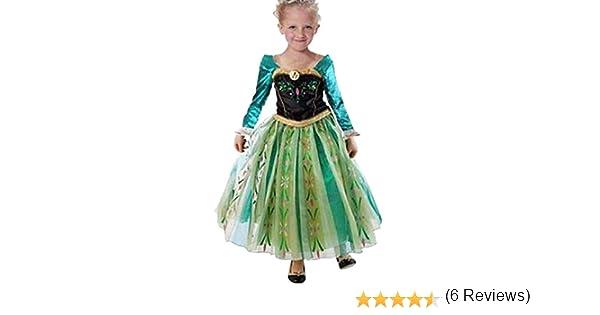 18e024f23 MissFox Traje Princesa Anna Frozen Vestido Para Niña 110CM Largo   Amazon.es  Juguetes y juegos