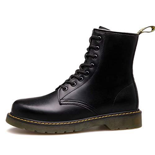 In Retro Autunno Inverno Di Coppia Tacchi Aiuto Pelle Alti donna Tk Boots I Inghilterra E Scarpe Colore Con Stivali shoe Uomo Martin Nero Rinforzi wqnXSZz