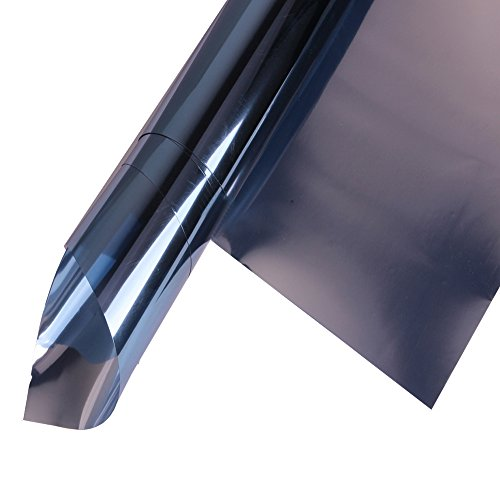HOHO Static Reflective Solar Window Film Tint Stickers Anti UV Heat Control for Home Building Glass,Blue,152cmx500cm