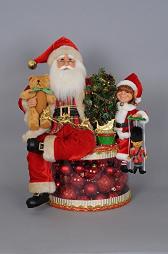 Karen Didion Lighted Traditional Christmas Glow Santa