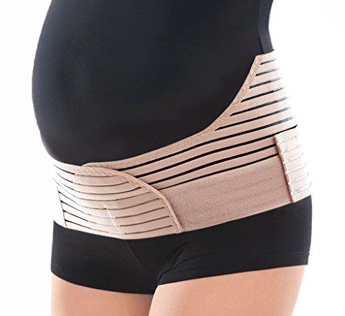 "Breathable Elastic Maternity Support Belt - Beige, Medium, Hips 41"" - 46"""