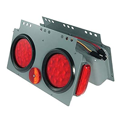 Grote 51002 Gray/Red SuperNova 10-Diode LED Stop Tail Turn Power Module with Sidemarker (Male Pin, RH): Automotive