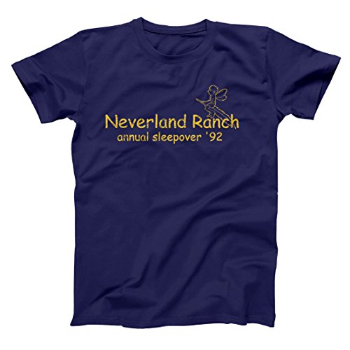 Neverland Ranch Annual Sleepover Funny Retro Camping Hip Urban Cool Old School MJ Humor Mens Shirt XX-Large - Ranch Outlet