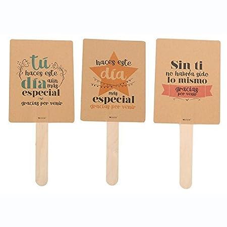 Lote De 18 Pai Pai De Papel Cartón Kraft Con Frases Gracias Originales Pai Pais Abanicos De Cartón Papel Baratos