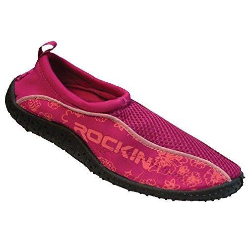Rockin Footwear Women's Water Shoes Aqua Socks,9 B(M) US,Fuchsia