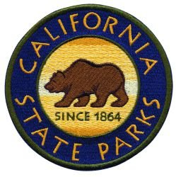 """CALIFORNIA STATE PARKS BEAR IN CENTER PATCH - 4"""" CIRCLE"""