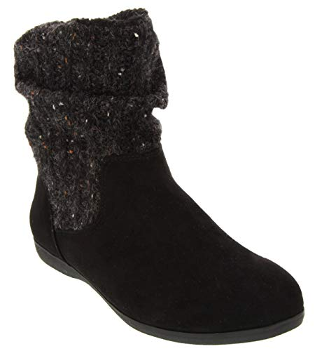 London Fog Womens Bryonn Slouch Low Shaft Mid Calf Winter Boot Black 10