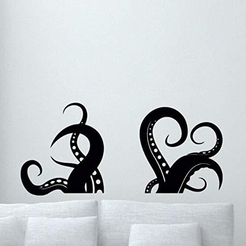 Crjzty Pulpo Tentáculos Tatuajes de Pared Decoración de baño Mar ...