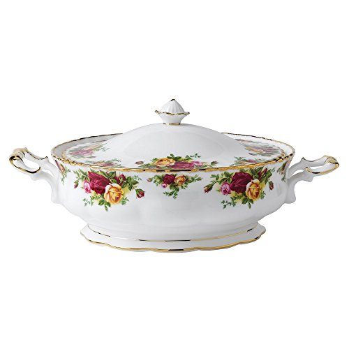 Royal Albert Old Country Roses 50-ounce Covered Vegetable Dish