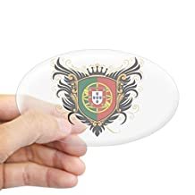 CafePress - Portugal Crest - Oval Bumper Sticker Car Decal