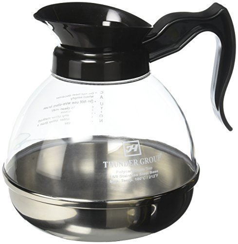 Oz Coffee Black 64 Decanter (Excellanté 64 oz Polycarbonate Coffee Decanters with Stainless Steel Base)