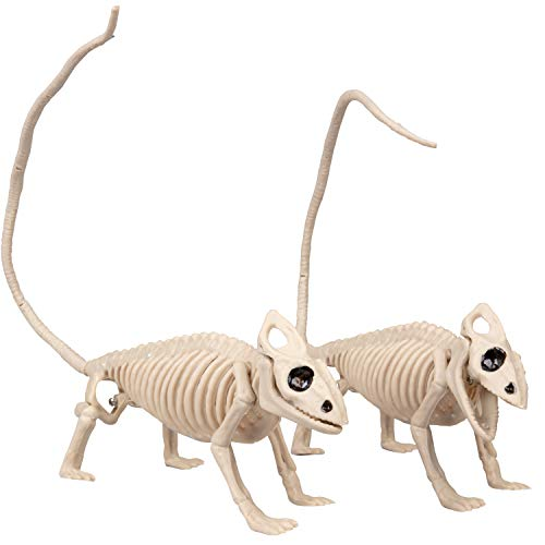 SCS Direct Halloween Skeleton Lizard Decorations 13 (Set of 2)- Weatherproof Indoor/Outdoor Realistic Lizard Bones Prop