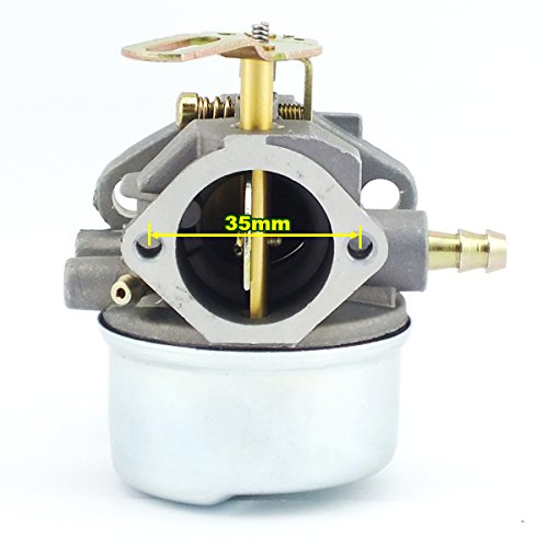 Yingshop Carburetor With Gasket Fuel Filte Line for Tecumseh 640349 640052 640054 640058 640058A HMSK80 HMSK85 HMSK90 HMSK100 HSMK110 LH318A LH358SA 8HP 9HP 10HP OREGON 50-659 Engine Snowblower Generator Chipper Shredder