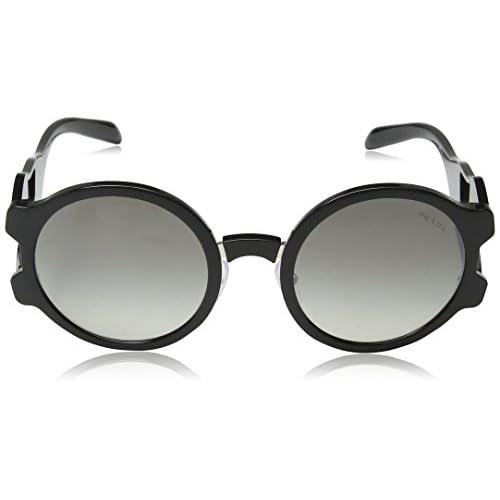 88bc74cd36 Prada 0PR13US 1AB5O0, Gafas de Sol para Mujer, Negro (Black/Grey Silver