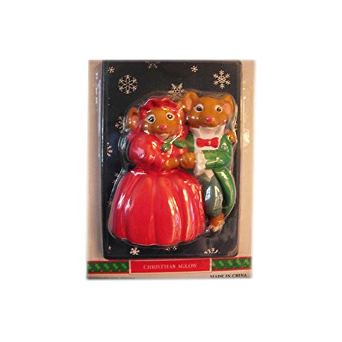 1993 House of Lloyd Christmas Around The World Christmas Aglow Mouse Couple Light Switchplate No. ()