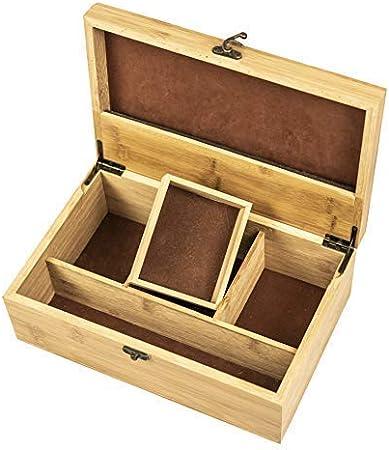 Helio Premium - Caja de almacenaje para Tabaco (bambú, Incluye ...