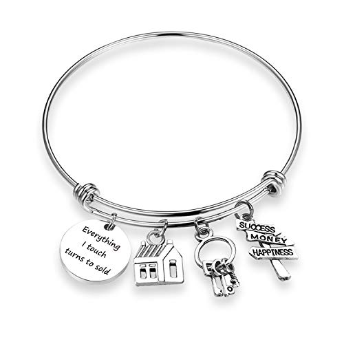 ZNTINA Realtor Bracelet Everything I Touch Turns to Sold Bracelet Real Estate Agent Bracelet Jewelry Realtor Jewelry Gifts Thank You Gift (Touch Sold BR) (Be A Real Estate Agent Part Time)