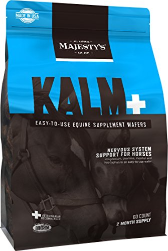 (Majesty's Kalm Wafers - Supports Horse / Equine Balanced Behavior and Normal Nervous System Function - Tryptophan, Vitamin B1, Winter Cherry, Inositol - 60 Count (2 Month Supply))