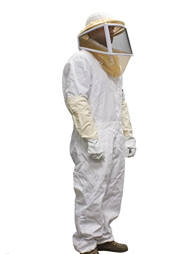 Complete Bee Keeper Suit Helmet Pants Gloves Pest Control bee wasps hornets yellow jackets etc.. Your Choice of size Large or Extra Large or XXL by Pest Mall
