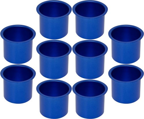 Cup Holders - 10 Aluminum Jumbo Dark Blue Poker Table Drink Cup Holders by CCS