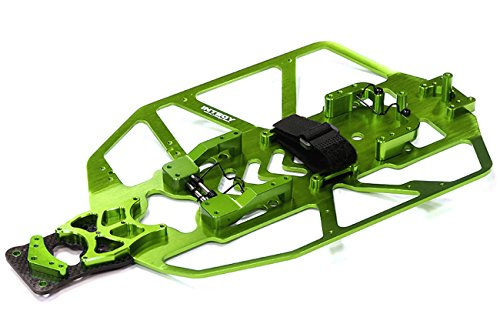 Integy RC Model Hop-ups T8091GREEN Alloy Chassis Conversion Set for Traxxas 1/10 Electric Slash 2WD