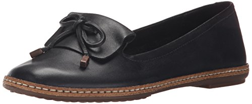 Hush Puppies Womens Adena Piper Slip-On Loafer Black Leather QMhcp8rBK