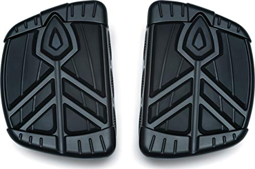 (Kuryakyn 5653 Motorcycle Foot Control Component: Spear Mini Board Floorboards for Indian Motorcycles, Satin Black, 1 Pair )