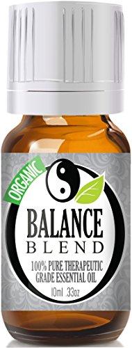 Баланс смесь (Organic) 100% Pure, лучших лечебно-Grade Эфирные масла - 10 мл (герань, лаванда и Восточной индийского сандала - Сопоставимые Doterra баланс)