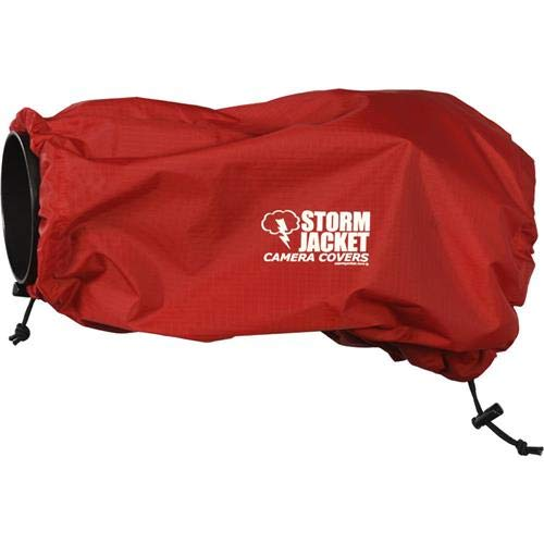 Vortex Media Storm Jacket Cover for an SLR Camera with a Short Lens Measuring up to 9'' from Rear of Body to Front of Lens, Color: Red by Vortex