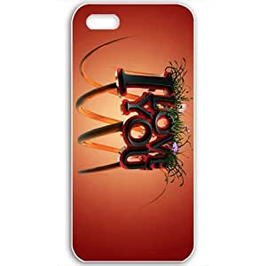 Magicly-Diy Apple iPhone 5s case covers Customized Gifts Of EMO Love i love you 7KtKZ3tIaIt 3d Love White