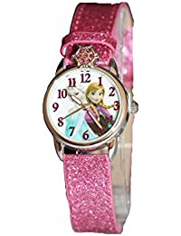 Kids' Frozen Anna and Elsa Watch with Pink Glitter Band