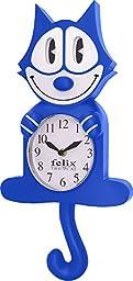 NJ Croce Blue Felix The Cat Motion Clock